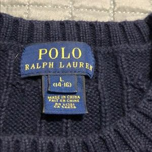 Polo by Ralph Lauren Shirts & Tops - Navy Polo Cable-Knit Sweater
